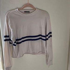 brandy melville blue and white striped long sleeve